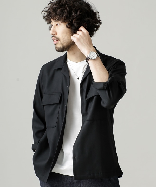 起毛ビッグポケットシャツ 5000円以上送料無料【公式/ナノ・ユニバース】