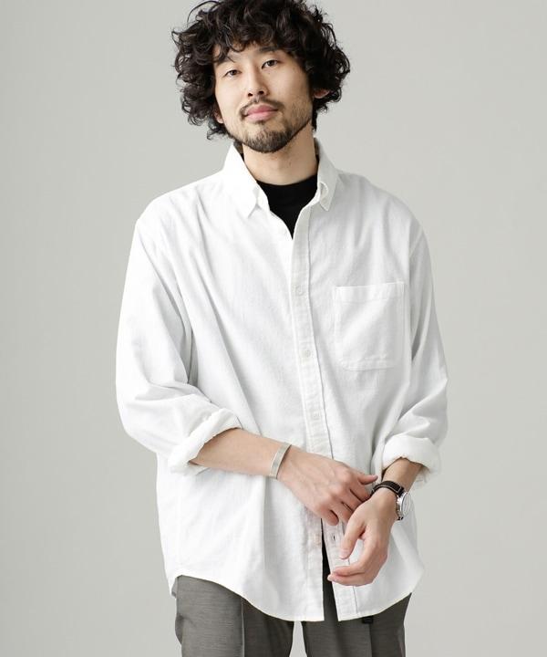起毛ワイドボタンダウンシャツ 5000円以上送料無料【公式/ナノ・ユニバース】