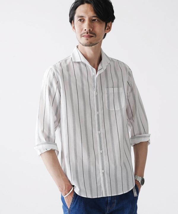 FLOW LINEN カッタウェイシャツ バリエーション 5000円以上送料無料【公式/ナノ・ユニバース】