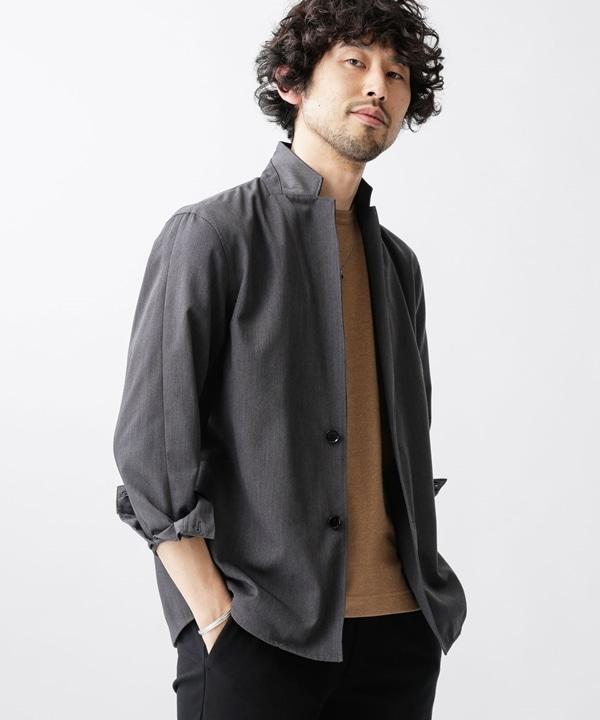 キープスタンドラペルシャツ 5000円以上送料無料【公式/ナノ・ユニバース】