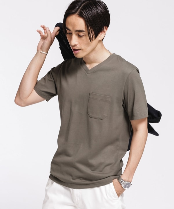 《汗染み防止》Anti Soaked ヘビーVネックTシャツ 5000円以上送料無料【公式/ナノ・ユニバース】