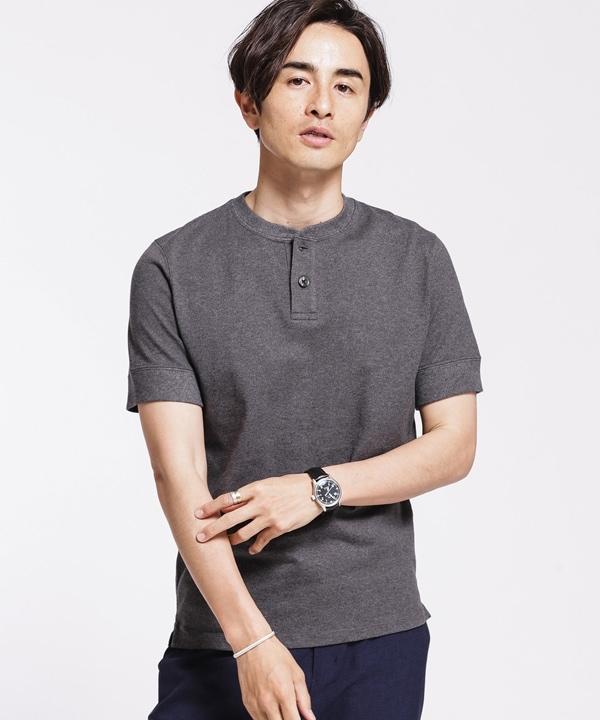 《汗染み防止》Anti Soaked ヘビーヘンリーネック Tシャツ 5000円以上送料無料【公式/ナノ・ユニバース】