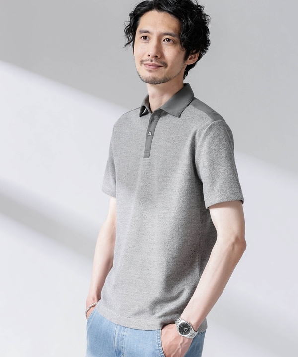 ルーピング切替撚り杢ポロシャツ 5000円以上送料無料【公式/ナノ・ユニバース】