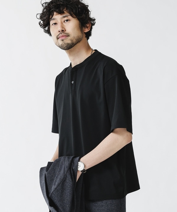 Primeflex鹿の子ヘンリーネックTシャツ 5000円以上送料無料【公式/ナノ・ユニバース】