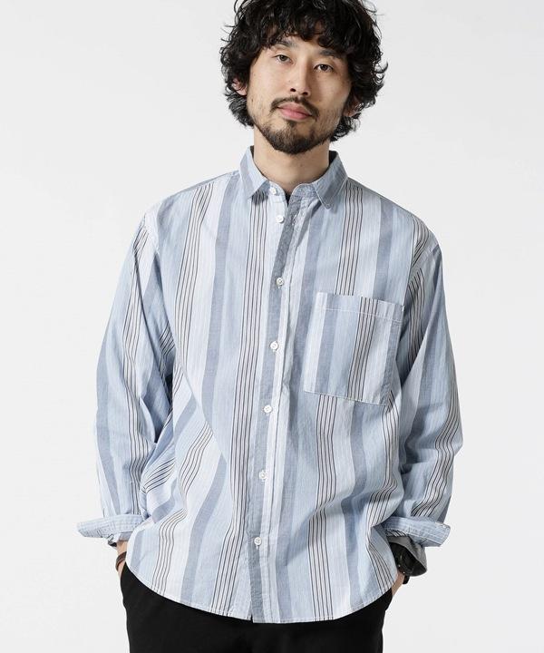 マルチストライプワイドシャツ 5000円以上送料無料【公式/ナノ・ユニバース】