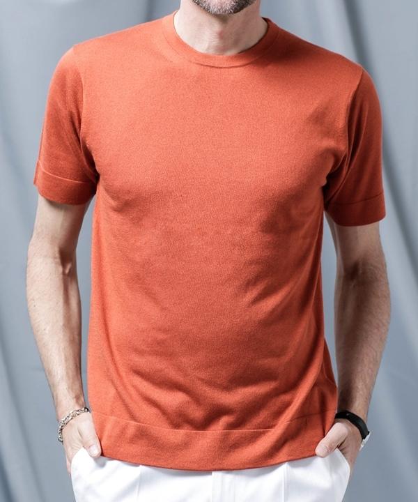 【公式/ナノ・ユニバース】//シルクカシミヤクルーニットTシャツ 5000円以上送料無料【nano LIBRARY】