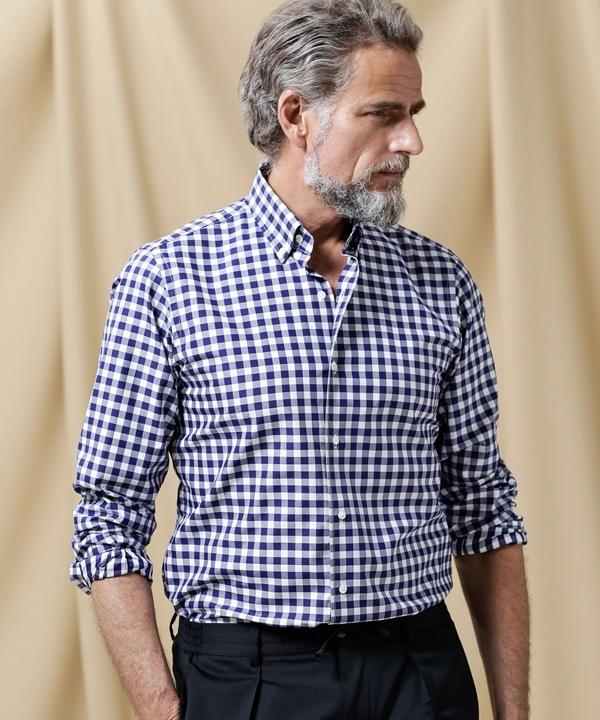 【公式/ナノ・ユニバース】//イタリア製生地ツイルチェックB.Dシャツ 5000円以上送料無料【nano LIBRARY】