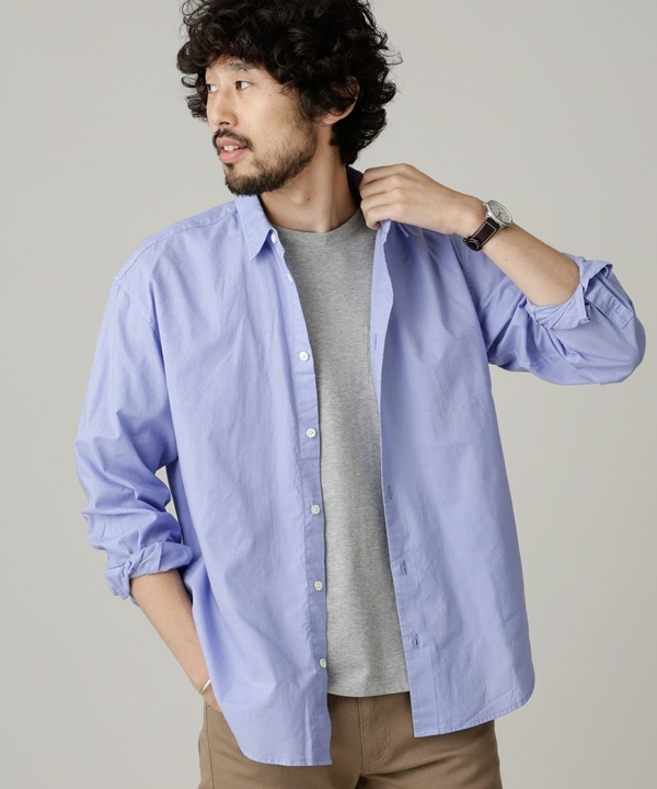 カラーライトコットンワイドシャツ 5000円以上送料無料【公式/ナノ・ユニバース】