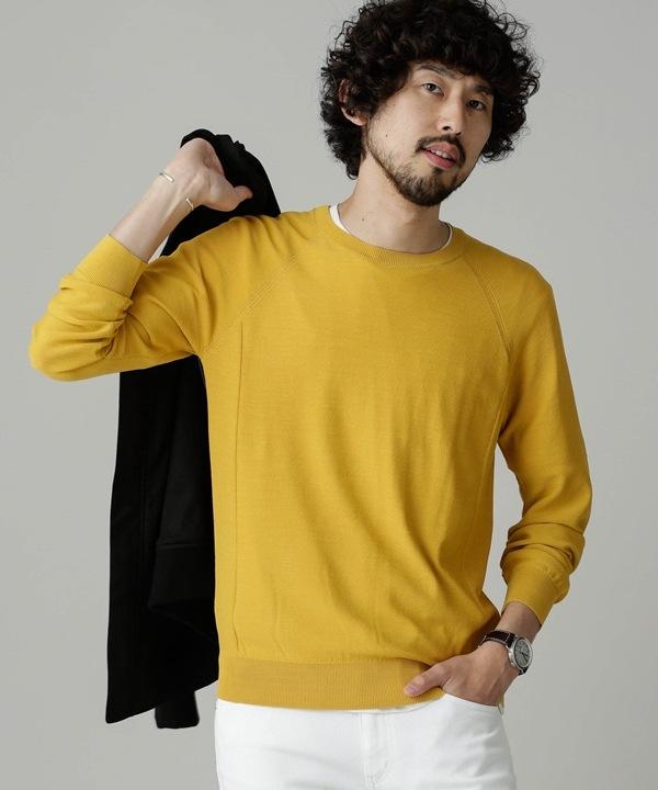 techloop ラグラン3Dクルーネックニット 5000円以上送料無料【公式/ナノ・ユニバース】