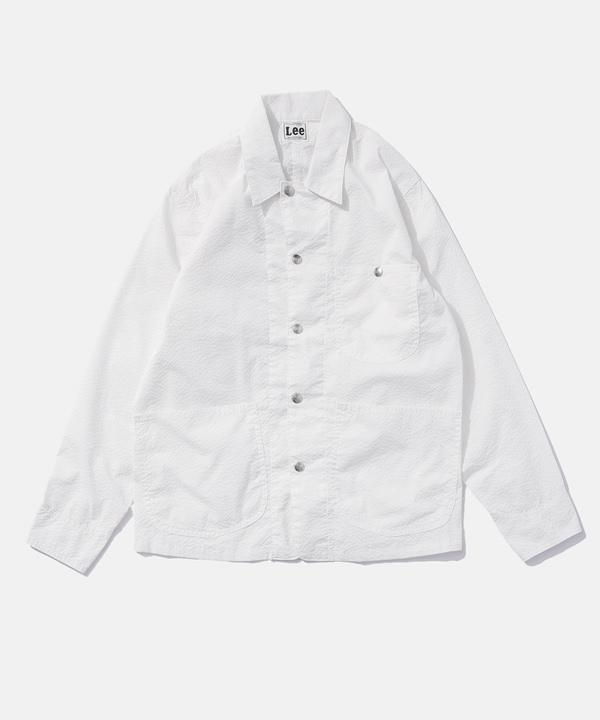 【公式/ナノ・ユニバース】別注シアサッカー カバーオールジャケット 5000円以上送料無料【Lee】