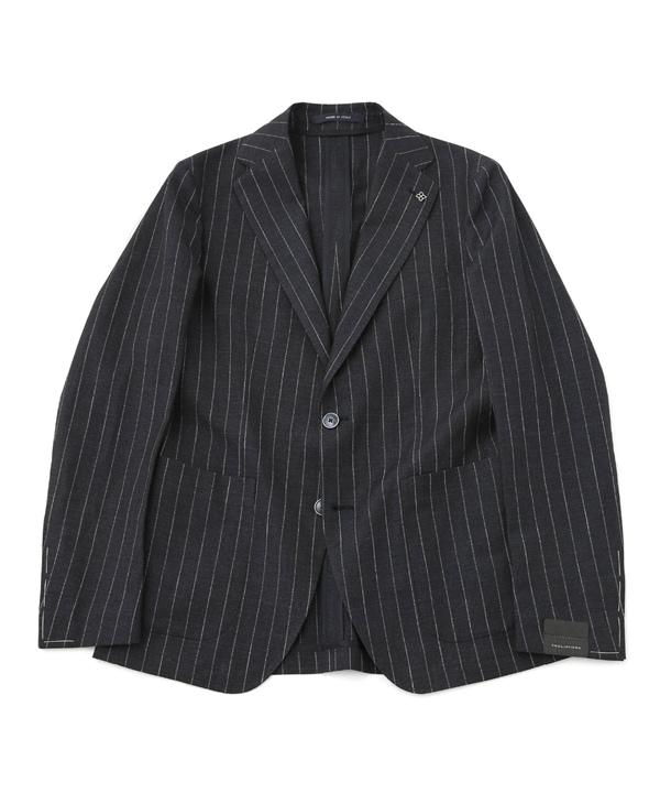 【公式/ナノ・ユニバース】コットンリネン ストライプセットアップ2Bジャケット 5000円以上送料無料【TAGLIATORE】