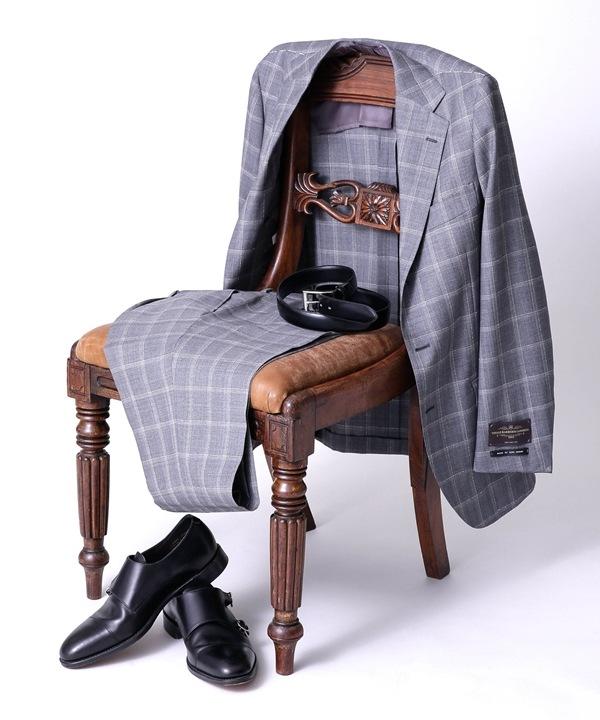 【公式/ナノ・ユニバース】別注V.B.C ウィンドペーン3Bスーツ 5000円以上送料無料【RING JACKET】