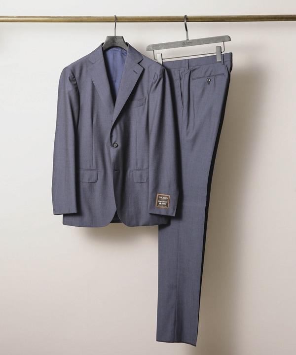 【公式/ナノ・ユニバース】別注Navy Label ヘリンボーン3Bスーツ 5000円以上送料無料【RING JACKET】