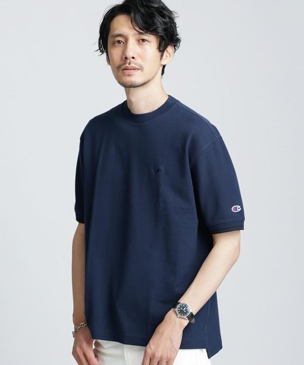 【公式/ナノ・ユニバース】別注 鹿の子Tシャツ 5000円以上送料無料【Champion】