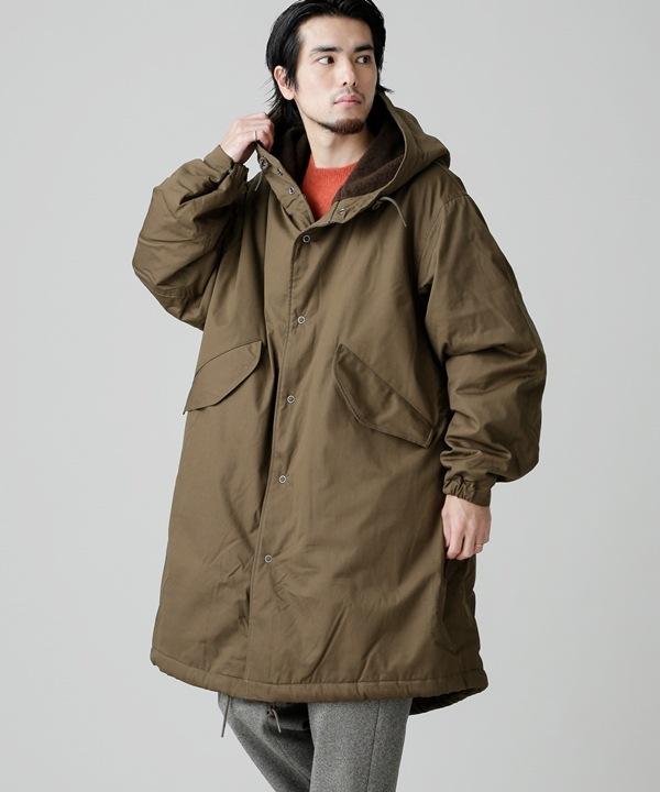 【公式/ナノ・ユニバース】SNOW PARKA W/BOUCLE WOOL KNIT 5000円以上送料無料【GOLD】