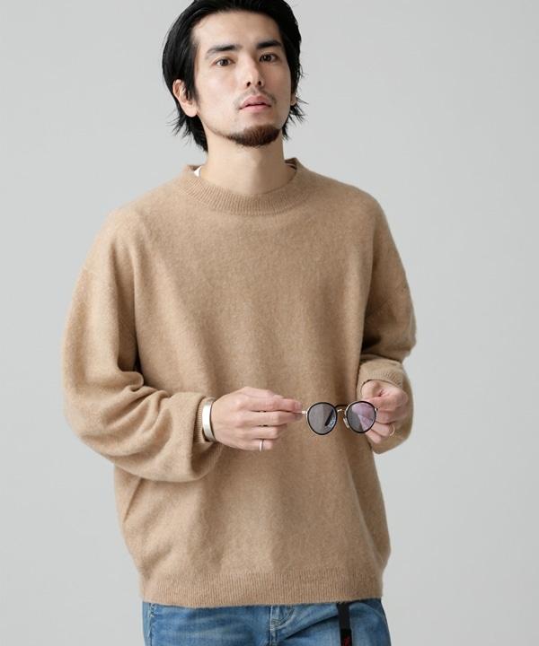 【公式/ナノ・ユニバース】14GG カシミヤ シャギーニット クルー 5000円以上送料無料【REMI RELIEF】