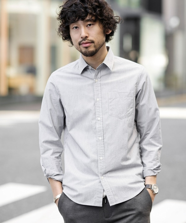 《WEB限定》レギュラーカラーパターンシャツ 5000円以上送料無料【公式/ナノ・ユニバース】
