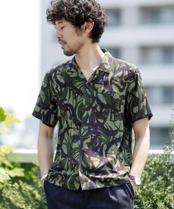 《WEB限定》総柄グラフィックオープンカラーシャツ半袖 5000円以上送料無料【公式/ナノ・ユニバース】