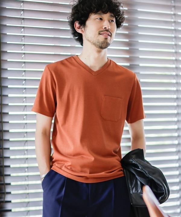 《WEB限定》《汗染み防止》Anti Soaked ヘビーVネックTシャツ 5000円以上送料無料【公式/ナノ・ユニバース】